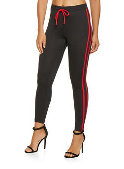 Varsity Stripe Soft Knit Leggings - 3407069397137