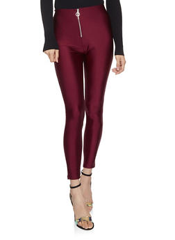 O Ring Zip Front Leggings - 3407069397166