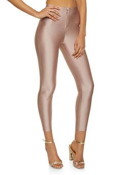 O Ring Zip Front Leggings - 3407069397166