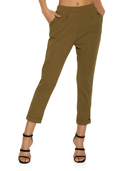 Pull On Crepe Knit Pants - 3407069397384