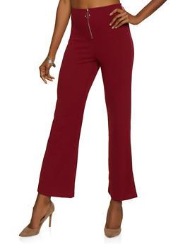 O Ring Zip Dress Pants - 3407069397408