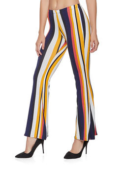 Striped Flared Pants - 3407072240398