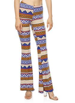 Flare Printed Pants - 3407072243981