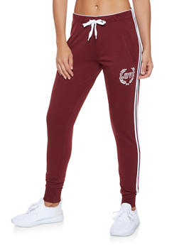 Love Graphic Varsity Stripe Sweatpants - 3407072290169
