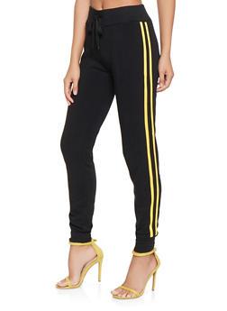 Fleece Lined Varsity Stripe Joggers - 3407072290196