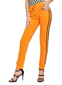 Fleece Lined Varsity Stripe Joggers - 3407072290196