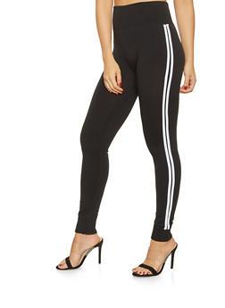 Varsity Stripe Leggings - 3407072290200
