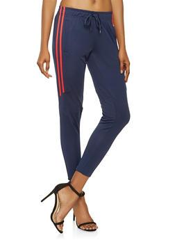 Varsity Stripe Track Pants - 3407072290228