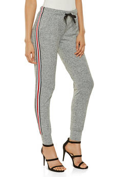 Graphic Elastic Waistband Joggers - 3407072290276