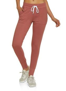 Solid Drawstring Waist Sweatpants - 3407072291500