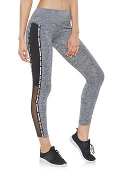 Girl Power Graphic Active Leggings - 3407074659298