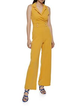Textured Knit Sailor Jumpsuit - 3408015997202