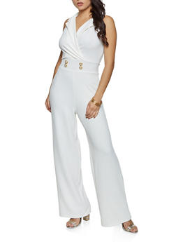 Crepe Knit Wide Leg Jumpsuit - 3408015997204