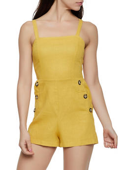 Linen Button Romper - 3408054211531