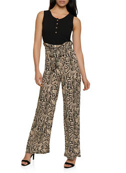 Printed Paper Bag Jumpsuit - 3408062701531