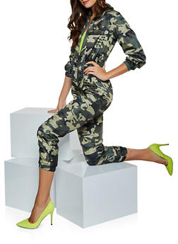 Nylon Camo Jumpsuit - 3408063408181