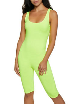 Scoop Neck Tank Bermuda Romper - 3408066493560