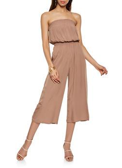 Smocked Strapless Jumpsuit - 3408068193208