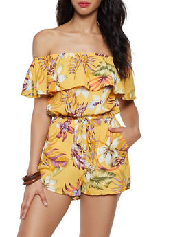 Floral Off the Shoulder Romper | 3408069391955 - 3408069391955