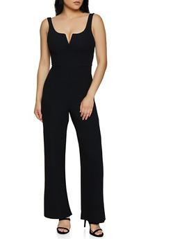 Sleeveless Wide Leg Jumpsuit - 3408069395190