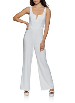 Sleeveless Wide Leg Jumpsuit - 3408069395190