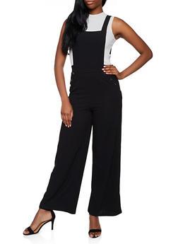 Crepe Knit Pinafore Jumpsuit - 3408069395243
