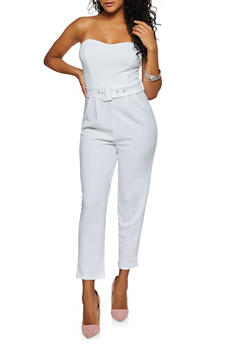 Crepe Knit Tube Jumpsuit - 3408069395246