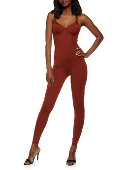 Padded Soft Knit Catsuit - 3408069397389