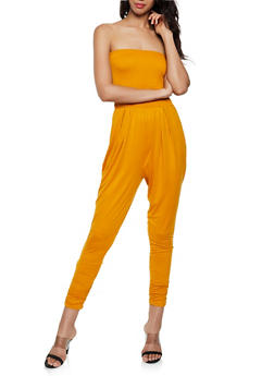 Smocked Soft Knit Tube Jumpsuit - 3408069397411