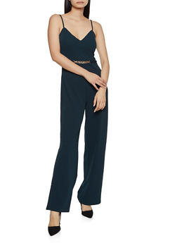 Metallic Chain Sleeveless Jumpsuit - 3408069397548