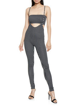 Striped 2 Piece Catsuit - 3408072240208
