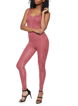 Vertical Striped Catsuit - 3408072245625
