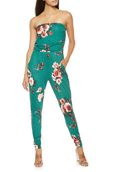 Soft Knit Floral Jumpsuit - 3410015990101