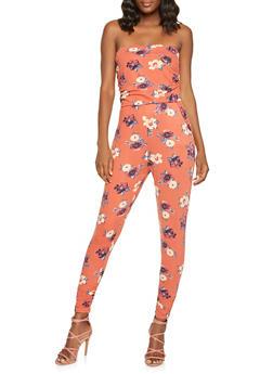 Soft Knit Floral Jumpsuit - 3410015990101
