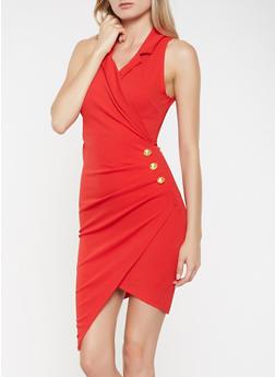Faux Wrap Blazer Dress - 3410015990607