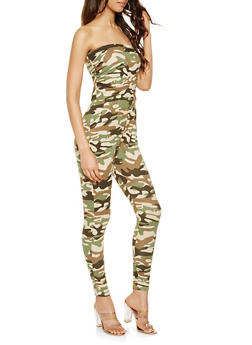 Soft Knit Camouflage Jumpsuit - 3410015991018