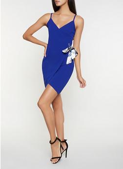 Faux Wrap Bodycon Dress - 3410015992609