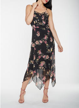 Caged Floral Maxi Dress - 3410015993117