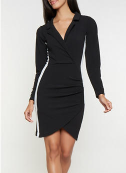 Faux Wrap Blazer Dress - 3410015993800