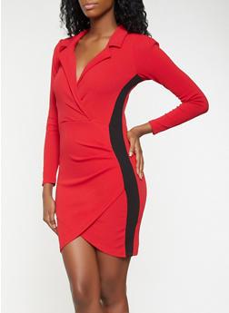 Faux Wrap Blazer Dress - 3410015993800