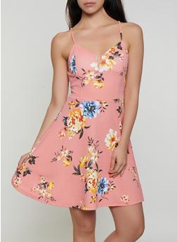 Floral Crepe Knit Skater Dress - 3410015998010