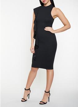 Ruffled Bodycon Dress - 3410015999264