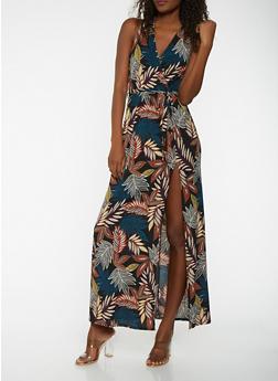 Floral Faux Wrap Maxi Dress - 3410054211822