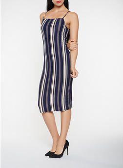 Striped Tank Dress - 3410061351024