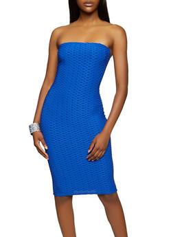 Honeycomb Knit Tube Dress - 3410062124112