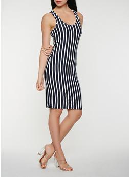 Striped Tank Midi Dress - 3410063401638