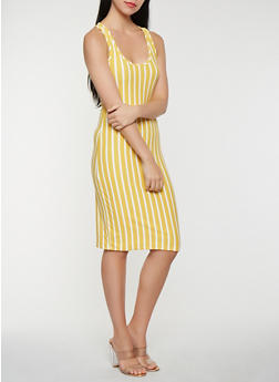Striped Tank Midi Dress - 3410063401638