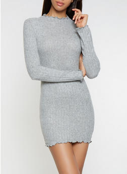 Brushed Knit Sweater Dress - 3410066490873
