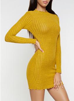 Brushed Knit Sweater Dress - 3410066490873
