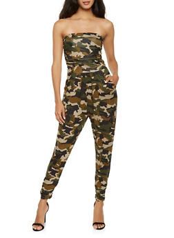 Camo Tube Jumpsuit - 3410066491345